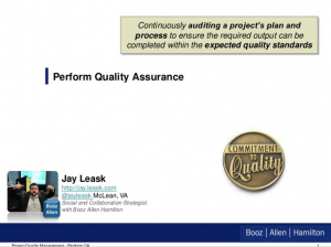 PMP Study Aid – Project Quality Management:Perform Quality Assurance