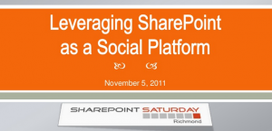 Leveraging SharePoint as a Social Platform